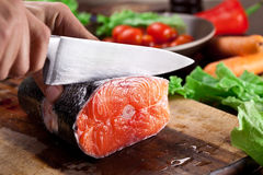 Fresh salmon. royalty free stock photo