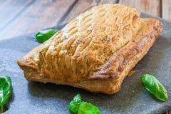 Fresh salmon pastry royalty free stock photos