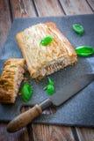 Fresh salmon pastry stock photos