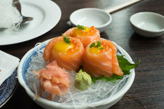 Fresh Salmon. In the roll Stock Image