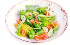 Fresh salmon salad Stock Images