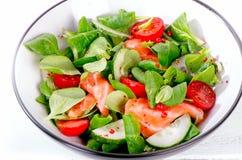 Fresh Salmon Salad. Healthy eating Stock Photo