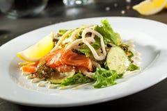 Fresh Salmon Salad Stock Photos