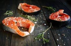 Fresh a salmon stock image