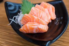 Fresh Salmon Sashimi Stock Photo