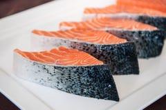 Fresh salmon sashimi, Salmon dish Stock Image