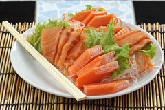 Fresh Salmon sashimi set Stock Photography