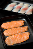 Fresh Salmon slices Royalty Free Stock Images