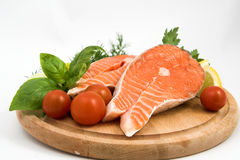 Fresh salmon steak Royalty Free Stock Photo