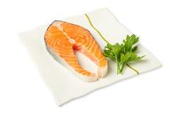 Fresh salmon steak Royalty Free Stock Photography