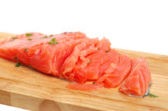 Fresh salmon steak Royalty Free Stock Images