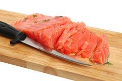 Fresh salmon steak Royalty Free Stock Photo