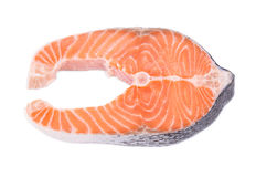Fresh salmon steak. Stock Image