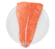 Fresh salmon steak Stock Photo