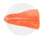 Fresh salmon steak Stock Photos
