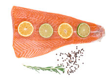 Fresh salmon steak Stock Images