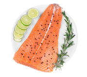 Fresh salmon steak Stock Image