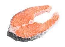 Fresh salmon steak. Royalty Free Stock Photo