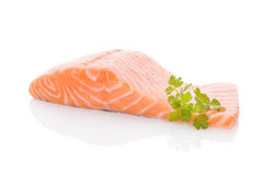 Fresh salmon steak. Royalty Free Stock Images