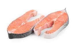 Fresh salmon steak. Stock Image