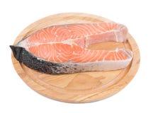 Fresh salmon steak Stock Photos
