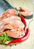 Fresh salmon steaks Royalty Free Stock Photo
