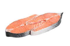 Fresh salmon steaks Royalty Free Stock Image