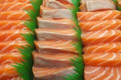 Fresh salmon sushi Stock Images