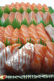 Fresh salmon sushi Royalty Free Stock Images
