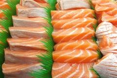 Fresh salmon sushi Stock Photography