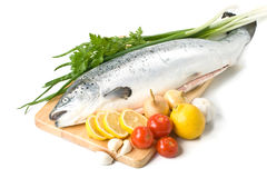 Fresh Salmon With Vegetables Royalty Free Stock Image