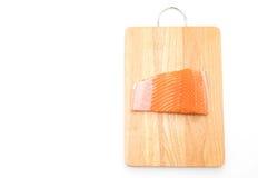Fresh salmon on wood board Stock Photo
