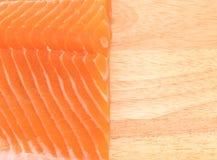 Fresh salmon on wood board Royalty Free Stock Photography