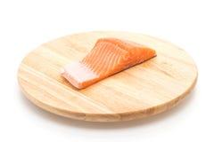 Fresh salmon on wood board Stock Image