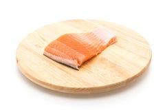 Fresh salmon on wood board Royalty Free Stock Image