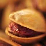 Fresh salted pistachio macro photo Royalty Free Stock Photos