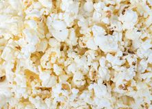 Fresh salted popcorn from the snack bar. Fresh salted popcorn from the snack bar for ready to enjoy with the movie in the cinema Royalty Free Stock Image