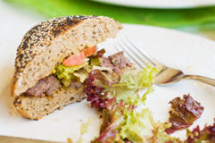 Fresh sandwich with beef Royalty Free Stock Image
