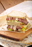 Fresh sandwich with beef and truffle sauce Royalty Free Stock Images