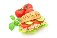 Fresh sandwich with ham and cheese Stock Photography