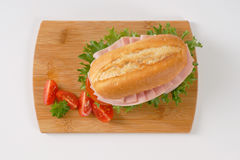 Fresh sandwich with ham Stock Image