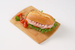 Fresh sandwich with ham Royalty Free Stock Photos