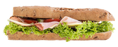 Fresh Sandwich isoalted on white Royalty Free Stock Photo