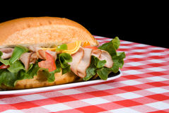 Fresh sandwich on a plate Royalty Free Stock Photography