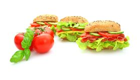 Fresh sandwich with vegetables Royalty Free Stock Photography