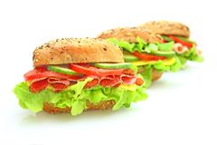 Fresh sandwich with vegetables Royalty Free Stock Images