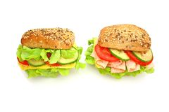 Fresh sandwich with vegetables Stock Photography