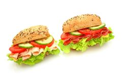 Fresh sandwich with vegetables Stock Images