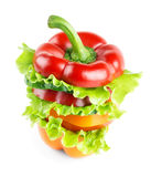 Fresh sandwich with vegetables Stock Photo