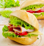 Fresh  sandwich Stock Image